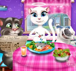 Play Tom and Angela Dinner Fun Game