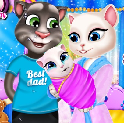 Play Tom And Angela Family Portrait Game
